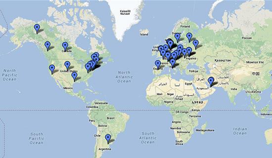 Map alumni